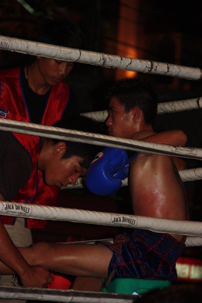 2008: Chiang Mai: MuayThai boksen, bont en blauw