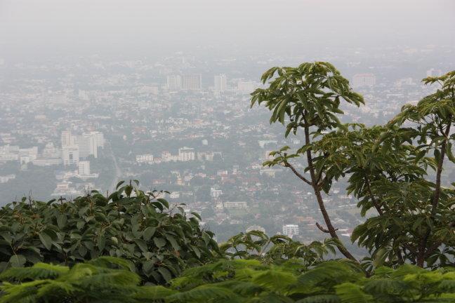 2008: Chiang Mai vanaf Doi Suthep Mountain.