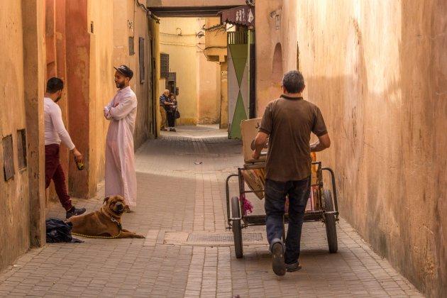 straatje in Meknes