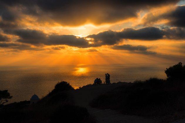 Zonsondergang in Haifa