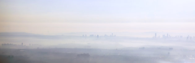 Istanbul gehuld in mist