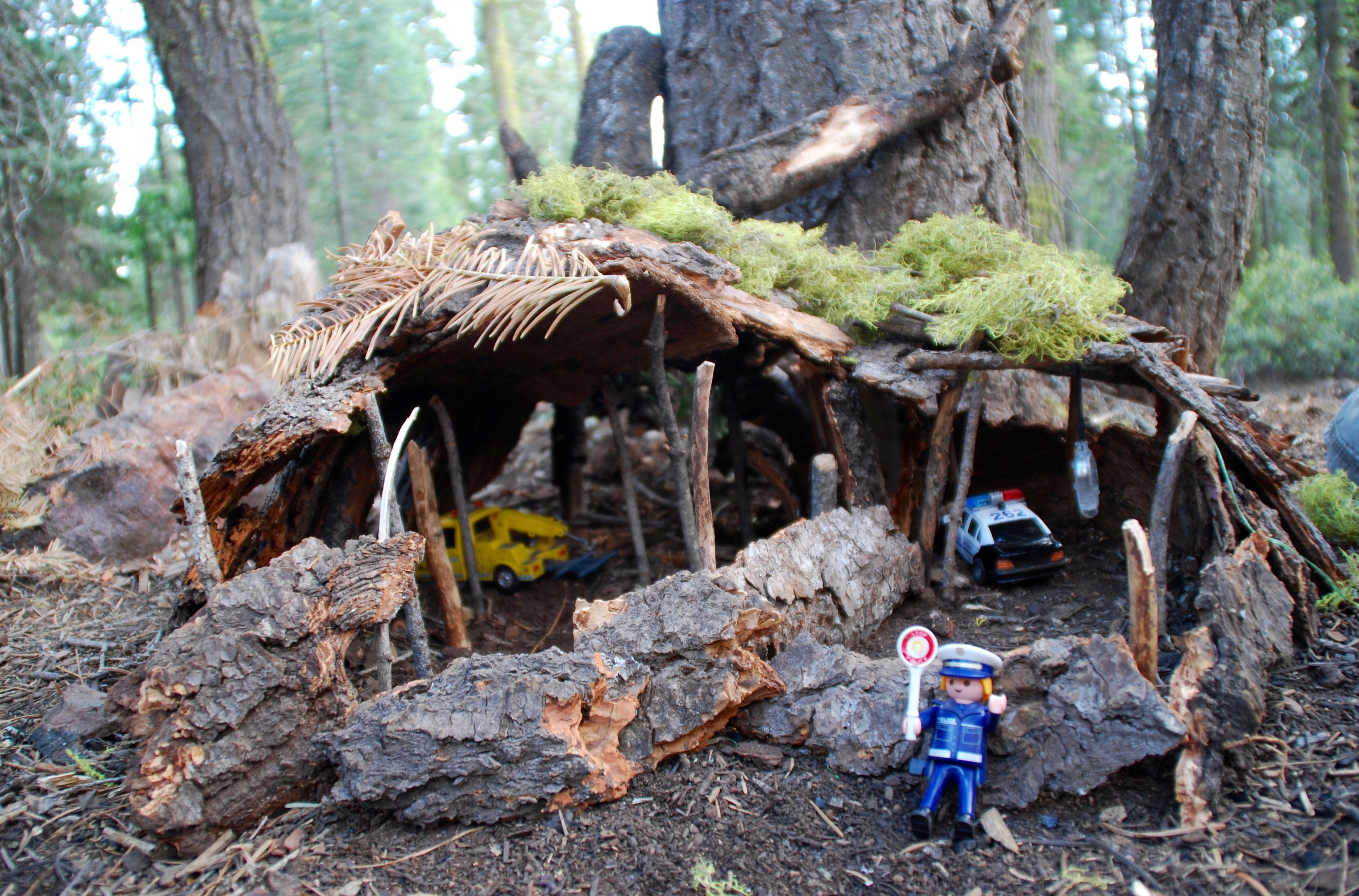 Spelen in de wouden van Yosemite in Californie