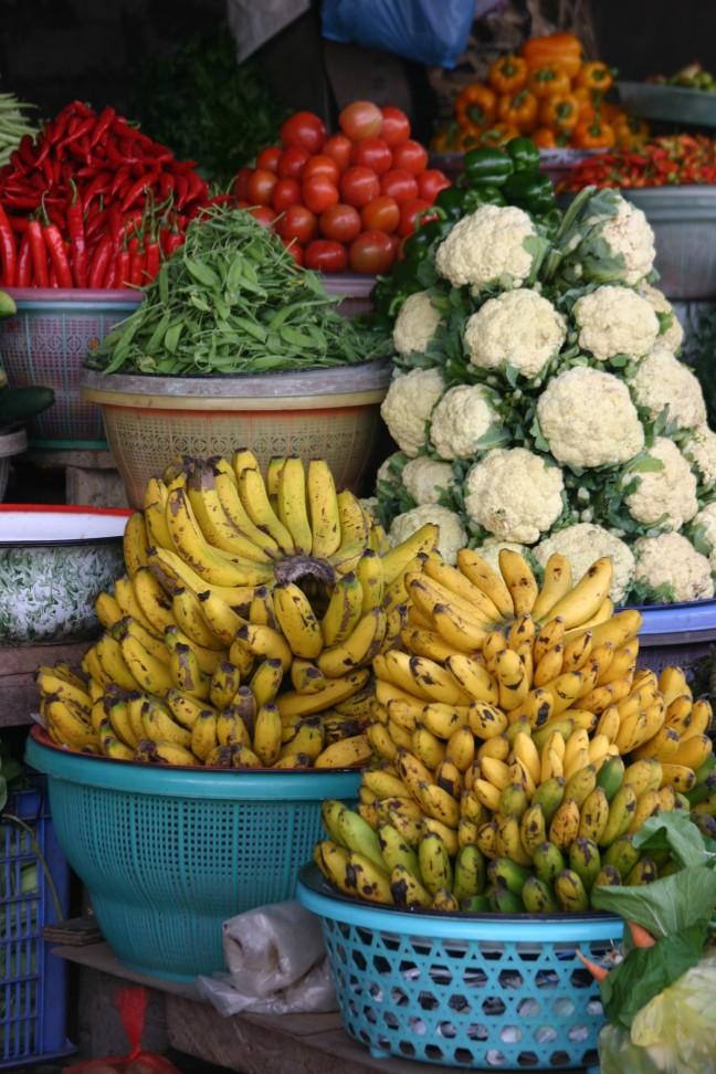 Groente en fruit op de markt