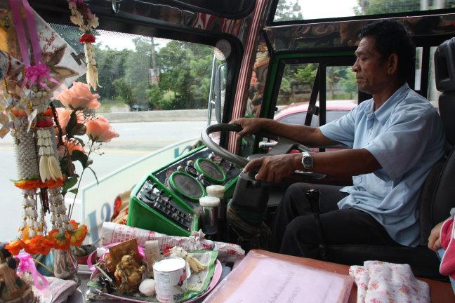 2008: Onderweg: locale bus van Chiang Rai naar Mae Sai