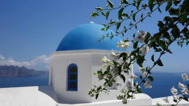 Santorini Grieks blauw
