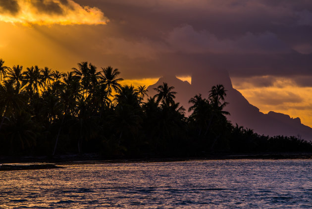 Bora Bora vanuit Le Taha'a gezien
