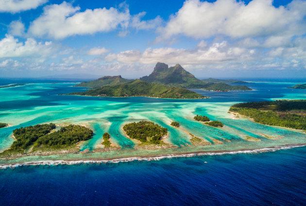 De motu's van Bora Bora