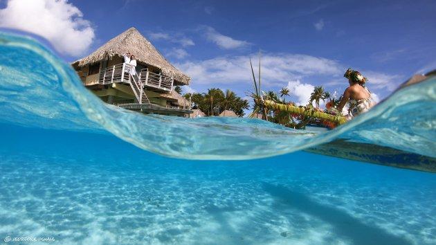 Outrigger-kano ontbijt op Bora Bora
