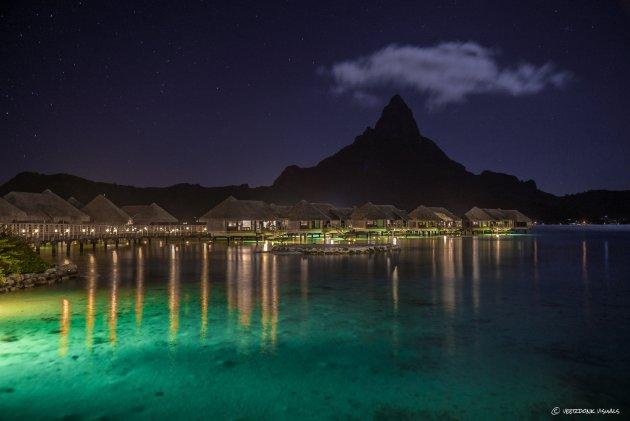 Bora Bora by night