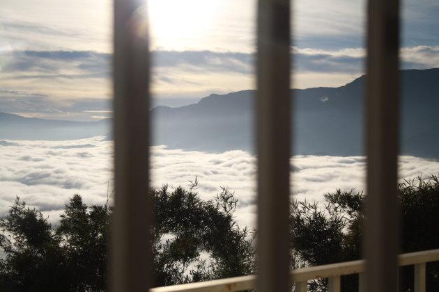 Ontwaken met je hoofd in de de wolken van Kenscoff, Haiti