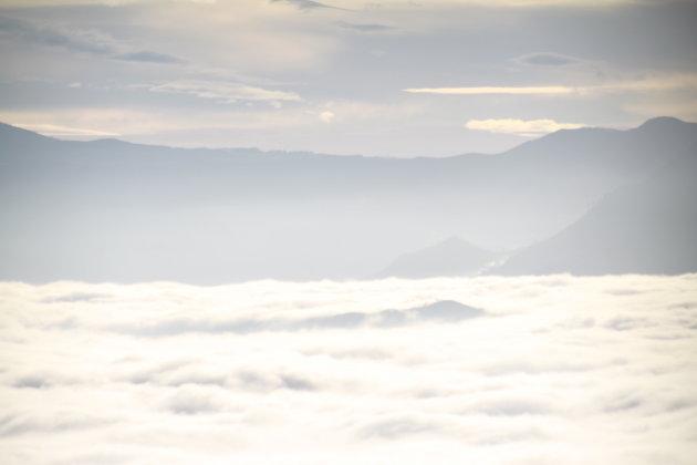 Met je hoofd in de wolken wakker worden, Kenscoff, Haiti
