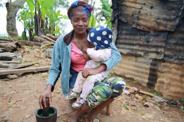 De locals in de bergen van Haiti