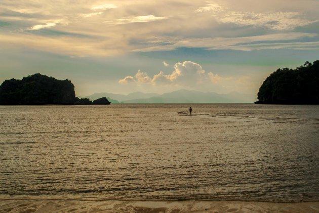 Lopen op het water in Maleisië