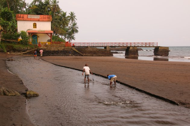 bijzonder strand op Sao Tomé