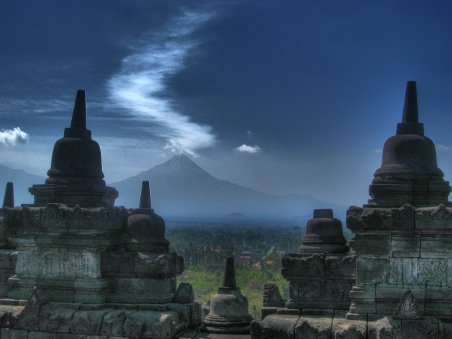 Op de Borobudur