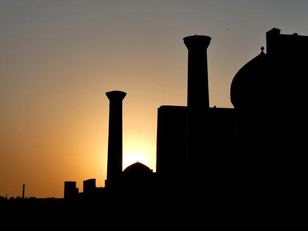 Registan at sunset