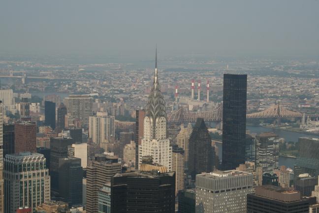 Sky line met Chrysler building in het midden