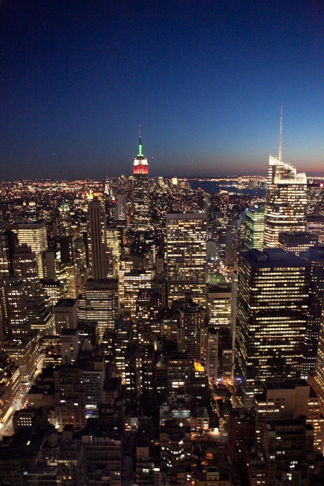 New York @ Night from Top of the Rocks