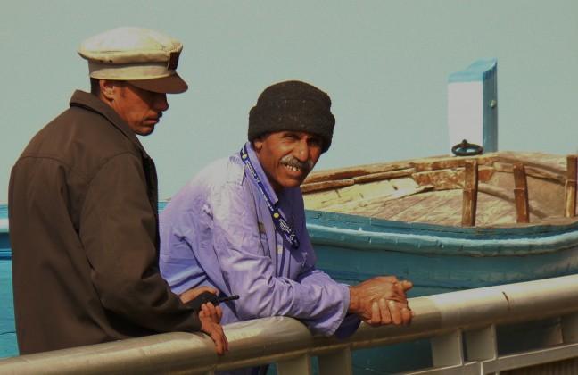 Oude visserman