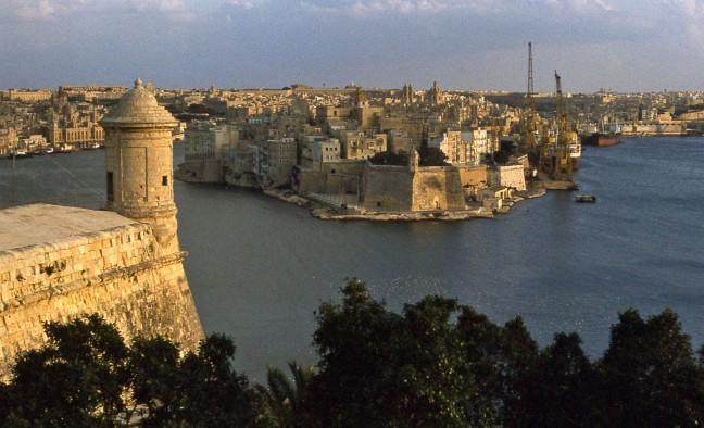 De haven van Valletta