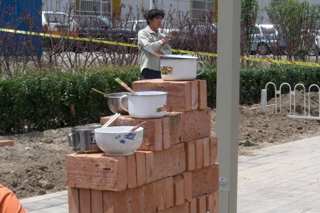 Lunchtijd voor de bouw