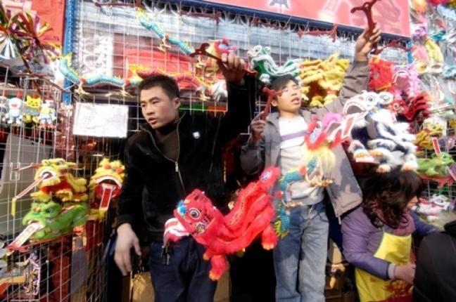 Tempelmarkt tijdens Chinees Nieuwjaar