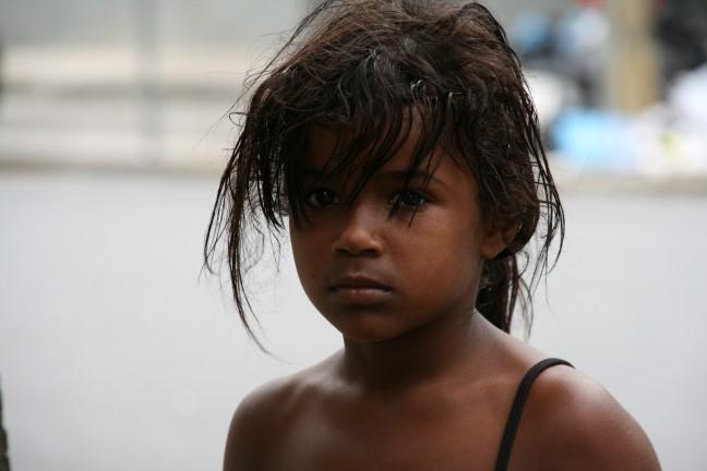Straatkind in Recife