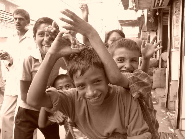 jongens op straat, Old Delhi