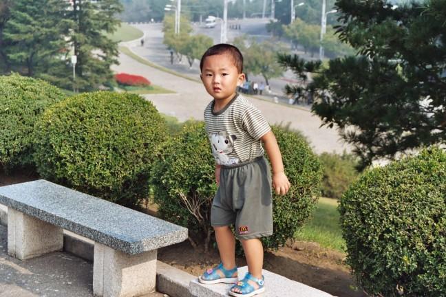 Jongetje in Pyongyang