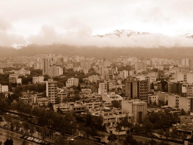 zicht op Teheran