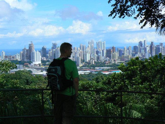 uitzicht op Panama city