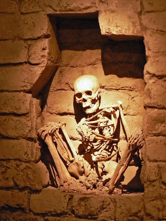 Skelet uit het graf van Sipan
