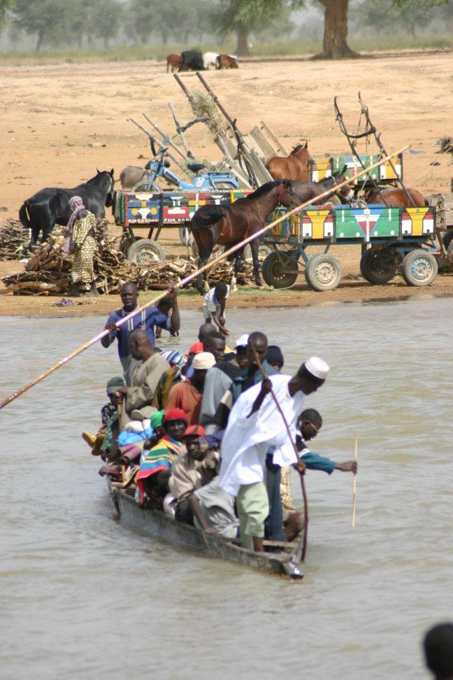 op weg naar de markt van Djenne