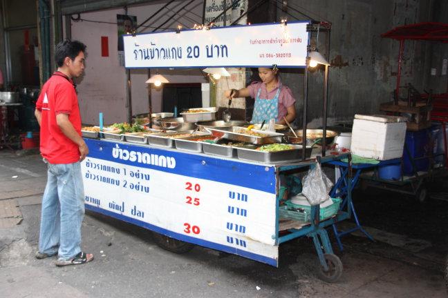 2008: Bangkok: eetstalletje