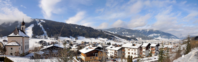 Flachau in panorama