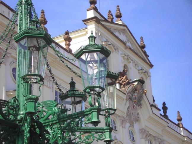 Detail lantaarn in Praag