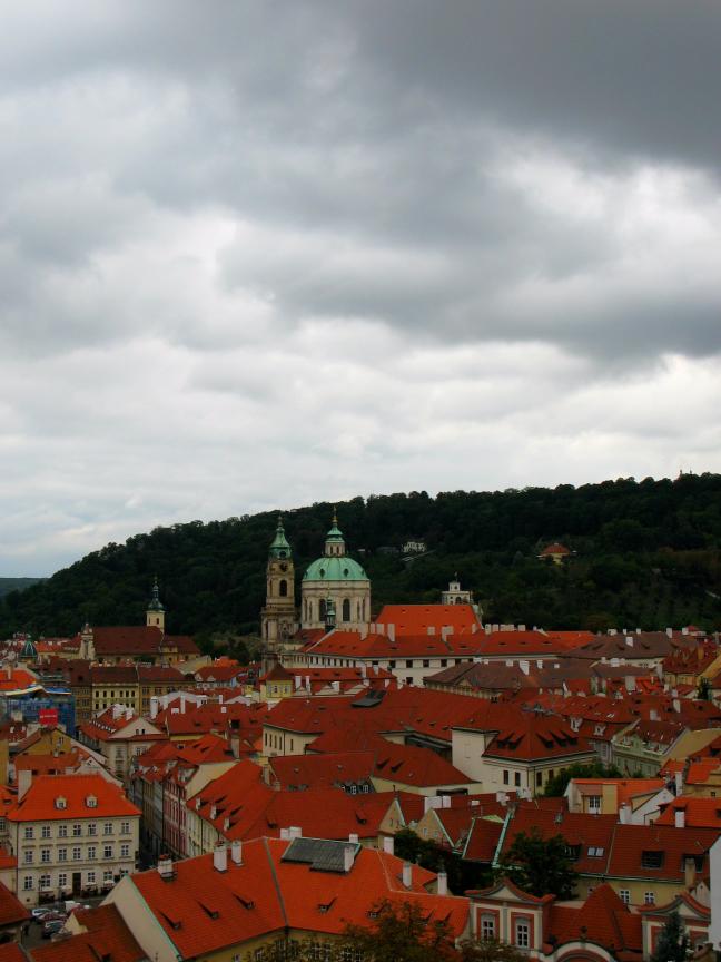 zicht op Praag