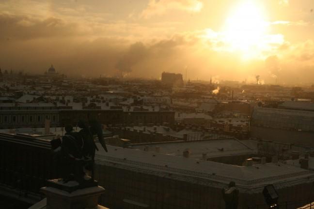 uitzicht vanaf de st. Izaakskathedraal