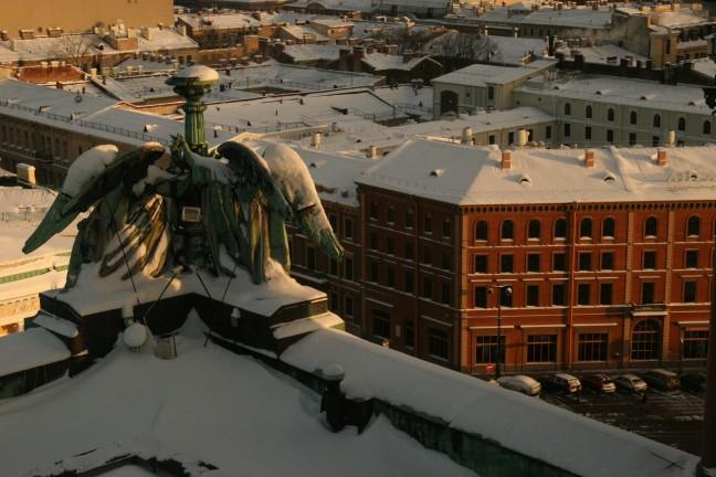 uitzicht van de st izaakkathedraal