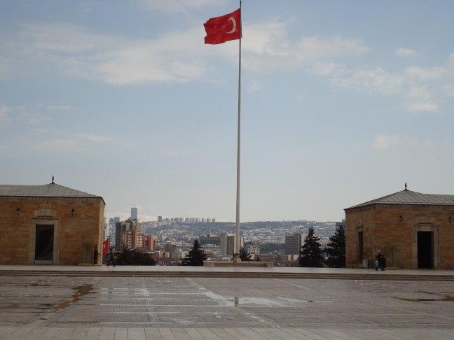 Ankara vanaf mausoleum van Atatürk
