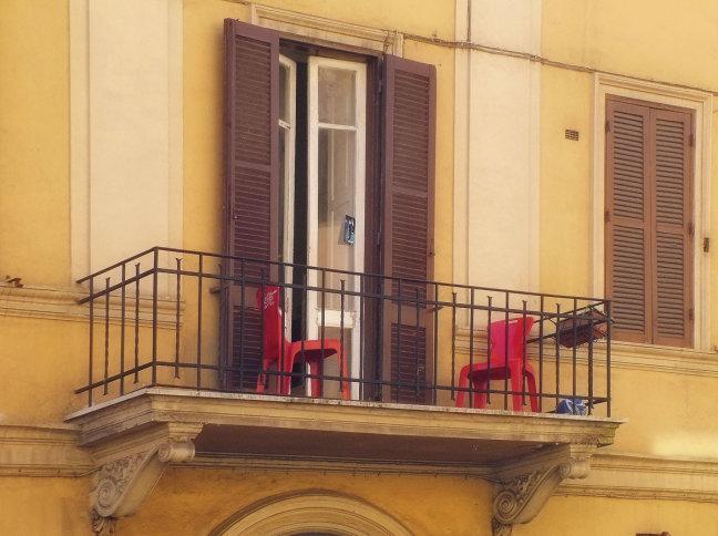 Balkonnetje in Rome