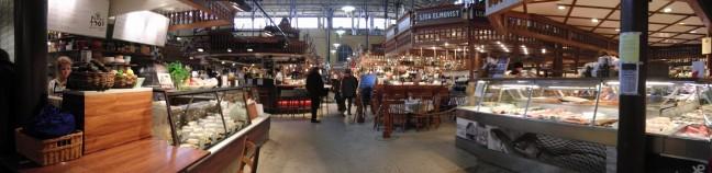 Saluhall, overdekte markthal in Ostermalm, Stockholm