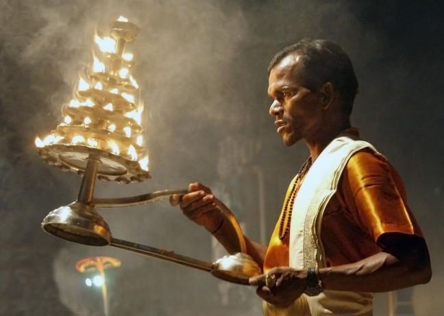 Ceremonie in Varanasi...