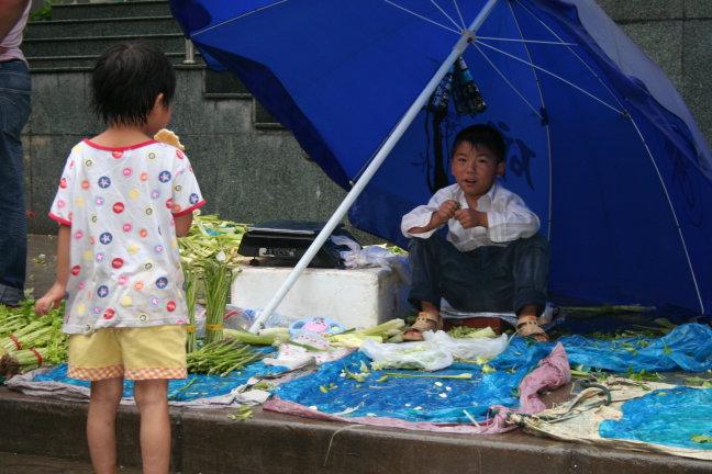 Kleine marktmensjes