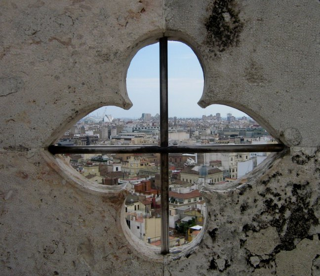 Vanaf de toren aan het Plaza de la Reina