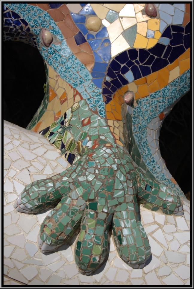 Gaudi Salamander mozaiek - Parc Guell