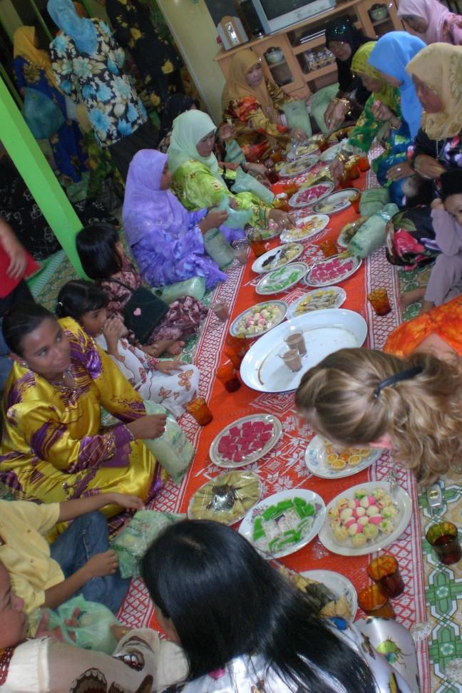 Uitgebreid eten tijdens een bruiloft