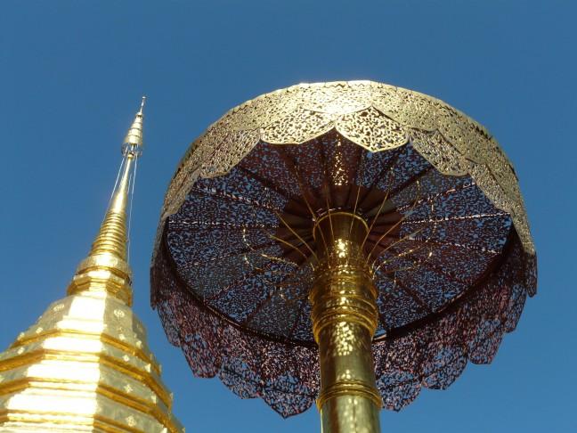 Gouden parasol