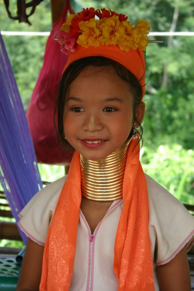 Meisje uit de Karen tribe