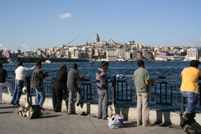 Vissers bij de Bosporus